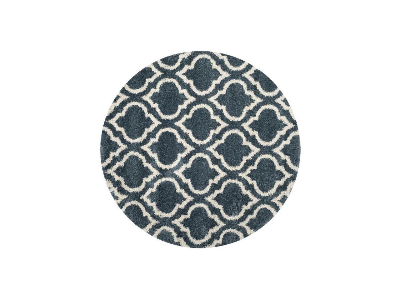Picture of: Safavieh Sgh284l 7r 7 X 7 Ft Round Hudson Shag Power Loomed Round Rug Slate Blue Ivory Newegg Com