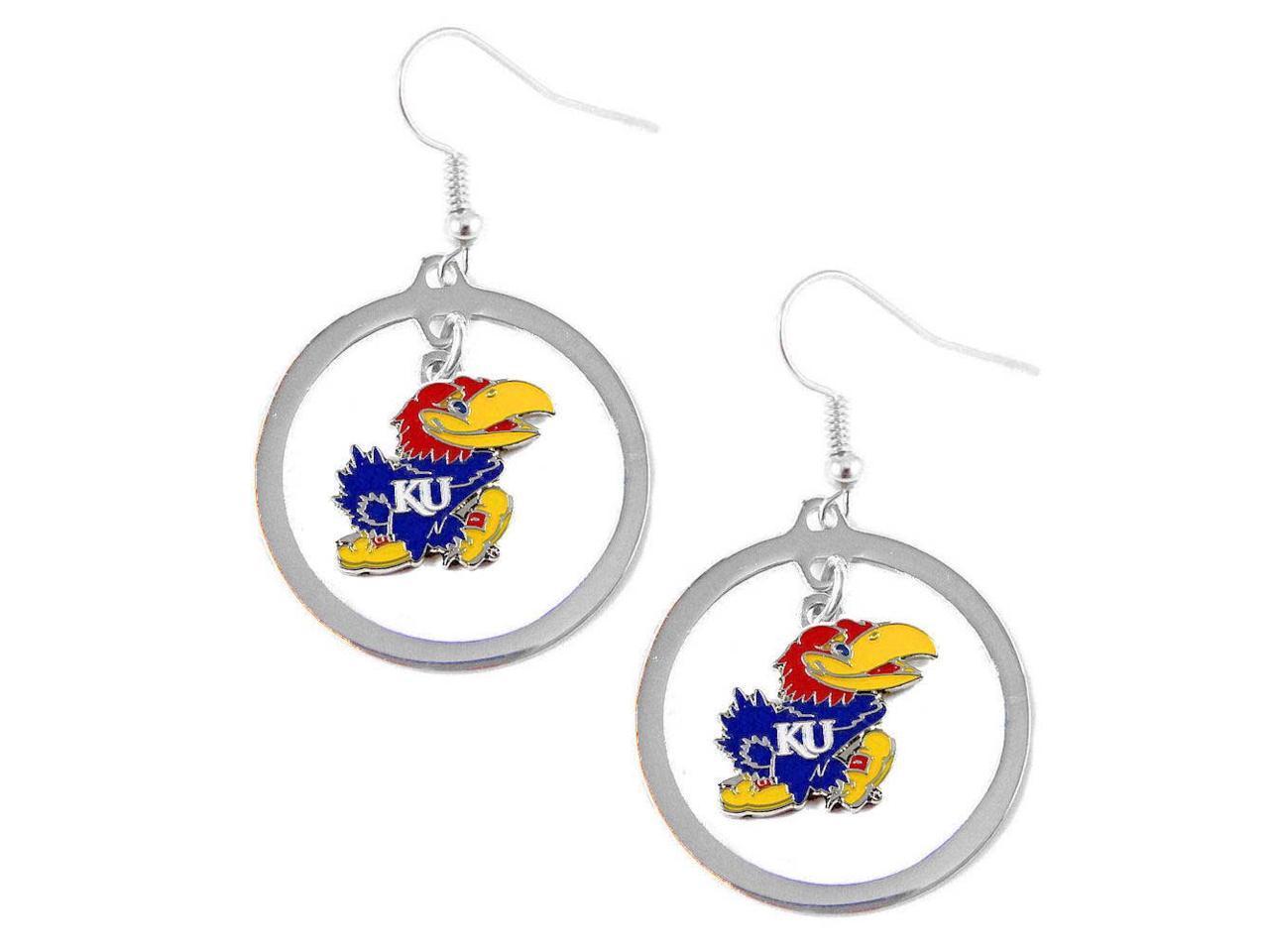 aminco Oklahoma Sooners Hoop Logo Earring Set NCAA Charm