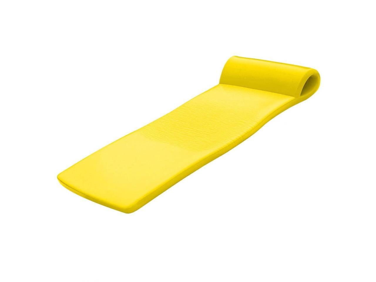 2 Pack Yellow Texas Recreation Sunsation 70 Inch Foam Raft Lounger Pool Float