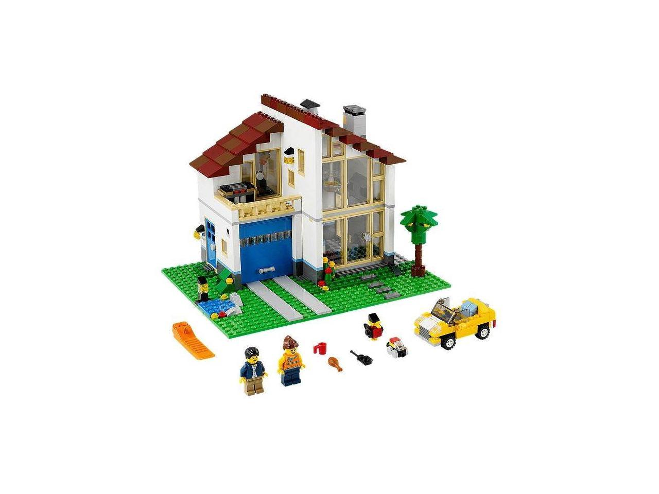 LEGO Family Room Living Room French Doors LCD TV Clock Couch Lamp City Town Home