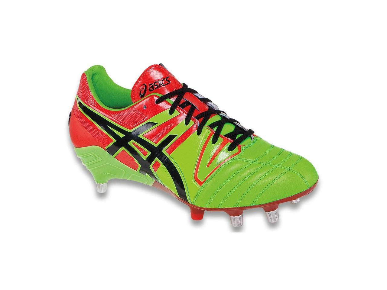 Asics 5 2015/16 Men's Gel-Lethal Tight 5 Asics Rugby Shoe - P500Y.8590 (Flash Green/Black/Deep Orange - 10) 905403