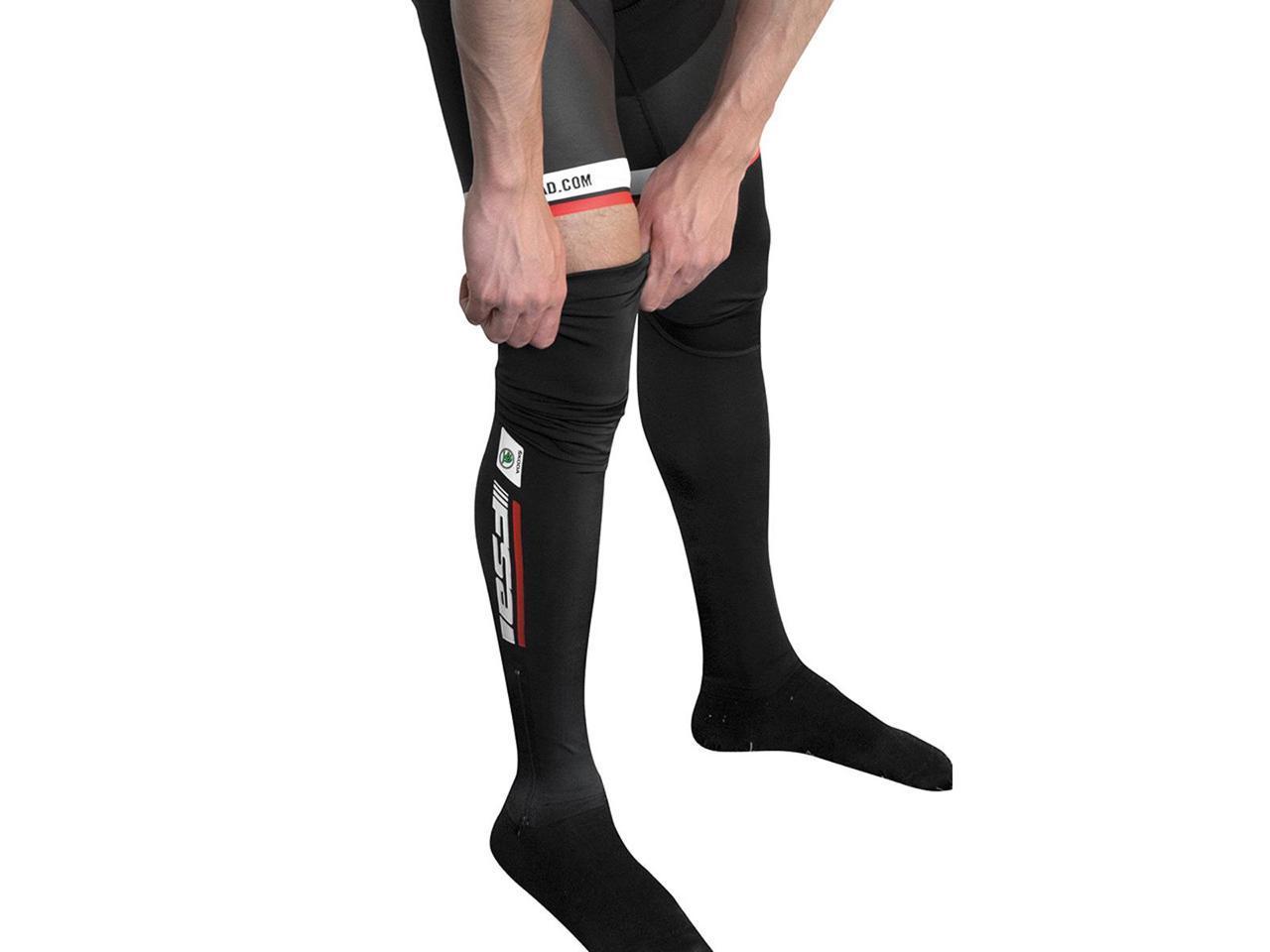 Nalini Men/'s N7 Nano Dry Cycling Leg Warmers Size Medium Black