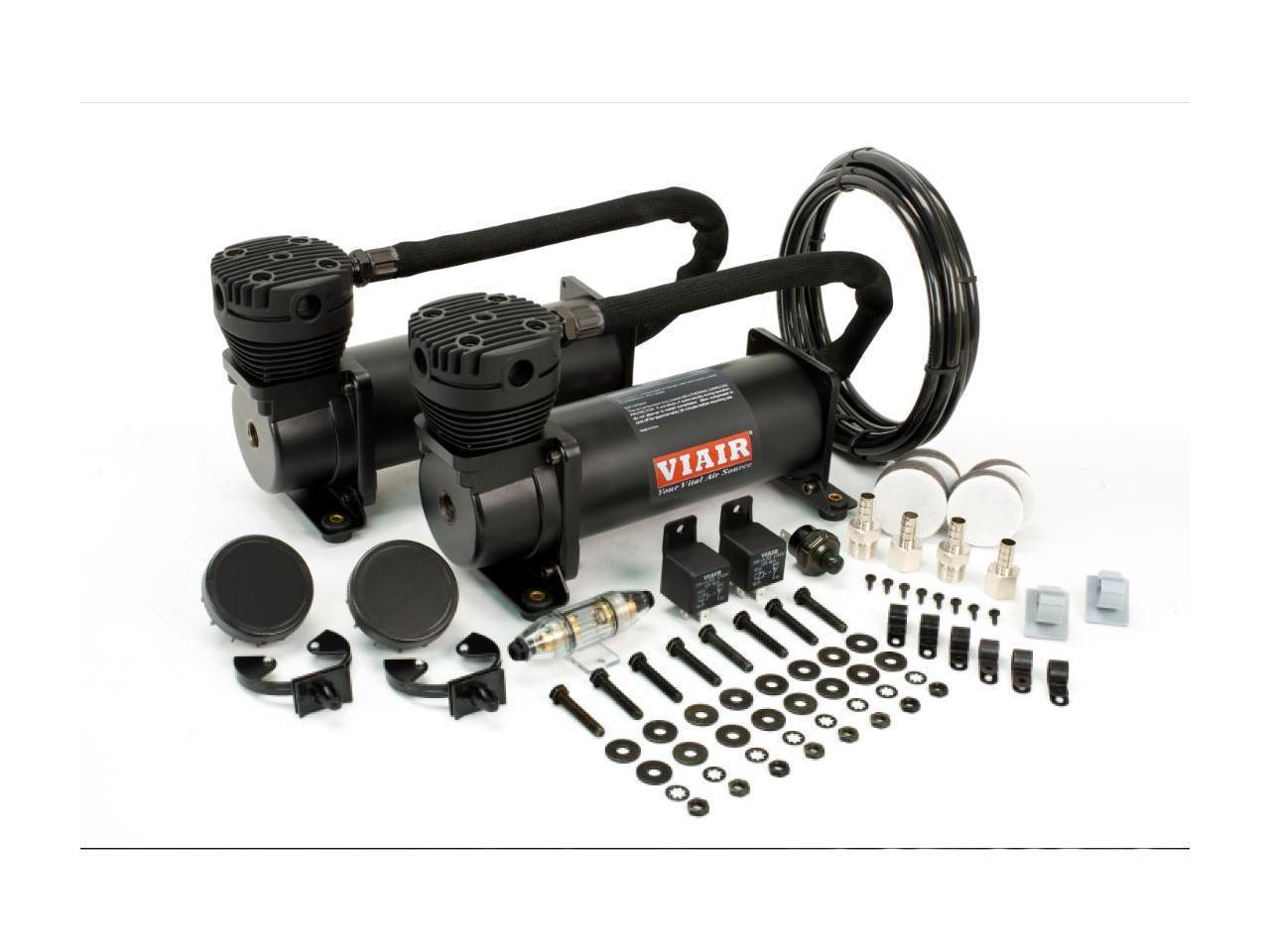 Viair Dual Stealth Black 480c Value Pack  200 Psi  480c  2