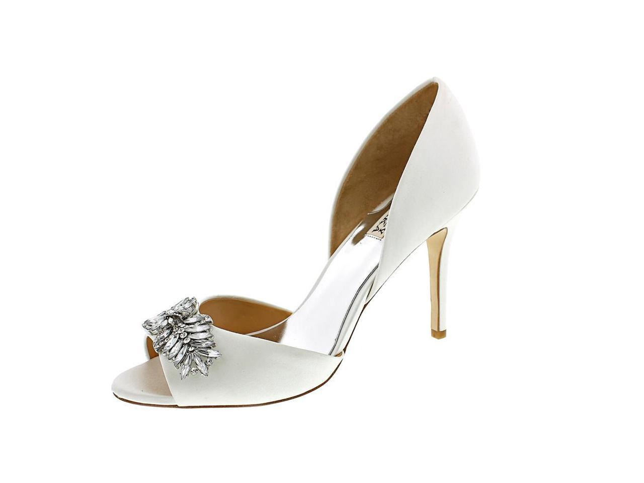Badgley Women Mischka Nikki Women Badgley US 8.5 White Sandals c5ee36