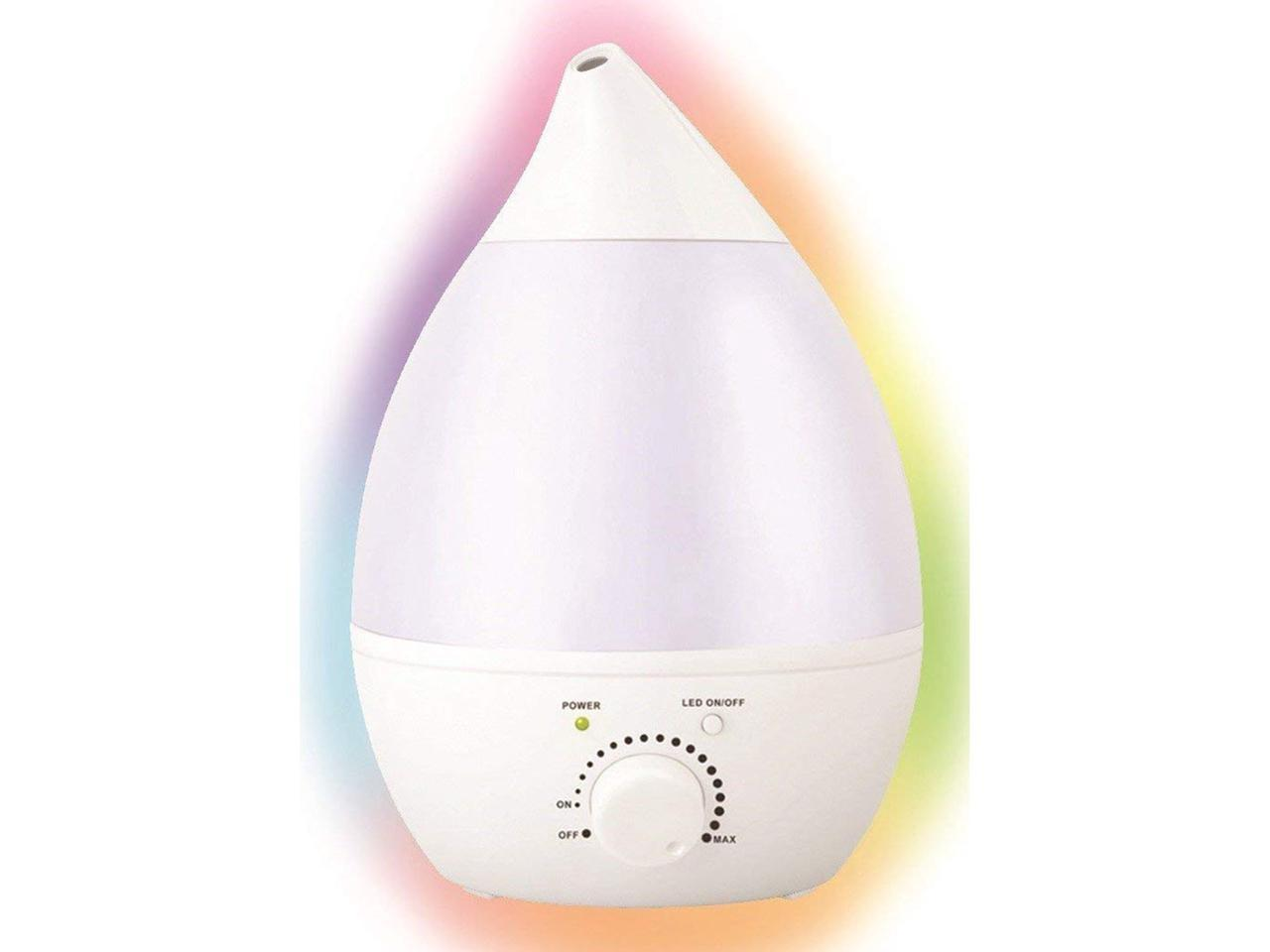 Remedies Cool Mist Aroma Oil Diffuser & Humidifier, LED Rainbow Color Changing