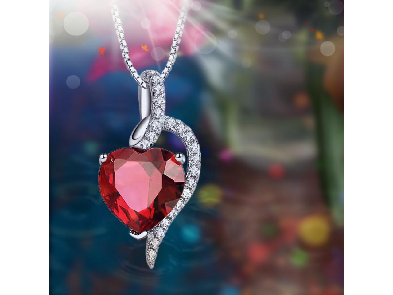 8mm Transparent Ruby Heart Bead #KHL005 12 Pcs