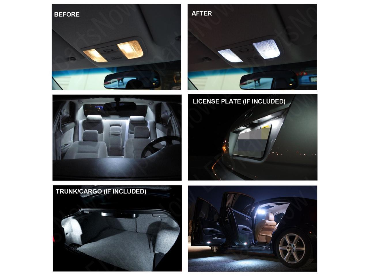 White LED interior lights package kit for 2007-17 Patriot 6 pcs 3014 series SMD