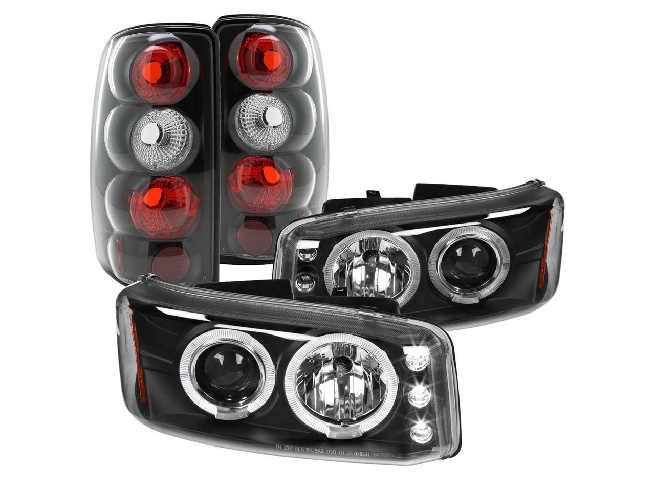 Spec D Tuning For 2000 2006 Gmc Yukon Denali Euro Black Dual Halo Projector Headlights Tail Lamps Left Right 2000 2001 2002 2003 2004 2005 2006 Newegg Com