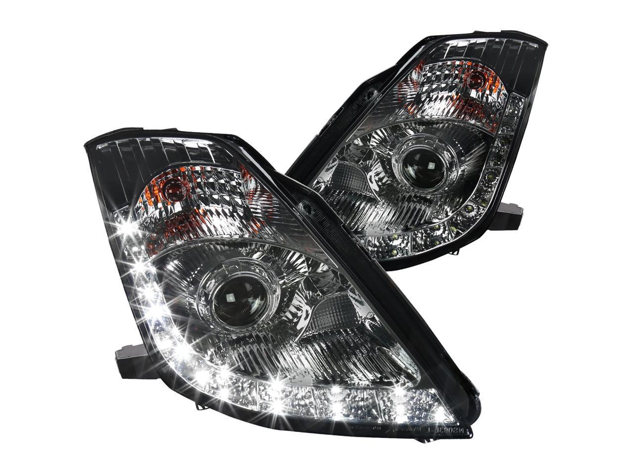 Spec D Tuning For 2006 2009 Nissan 350z Fairlady Z33 Chrome Smoke Led Projector Headlights Head Lamps Left Right 2006 2007 2008 2009 Newegg Com