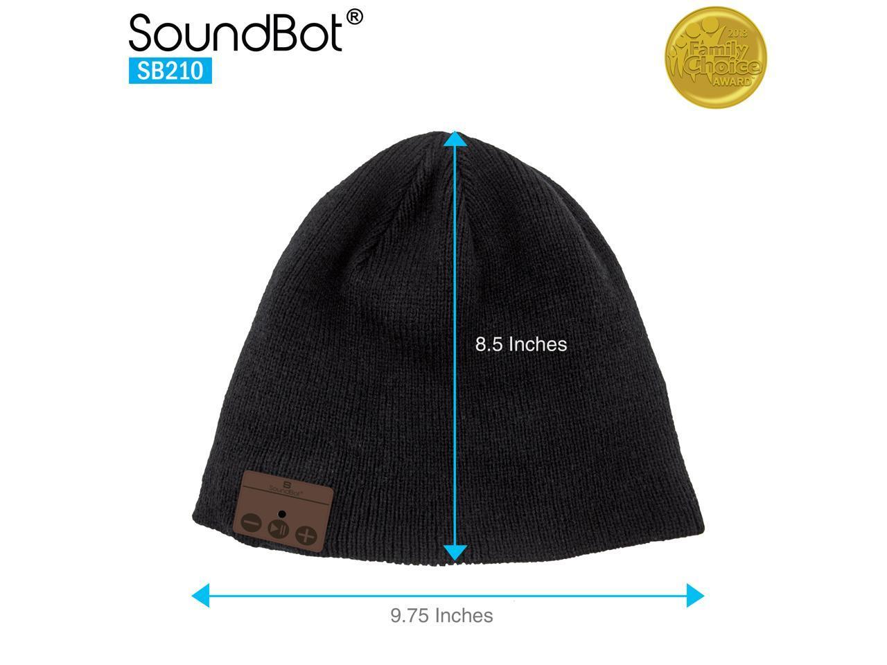 Built-in Mic SoundBot Weave HD Stereo Bluetooth 4.1 Wireless Smart Beanie Headset Musical Knit Headphone Speaker Hat Speakerphone Cap w// 5Hrs Music Streaming /& 7Hrs Hands-Free Talking 60Hrs Standby