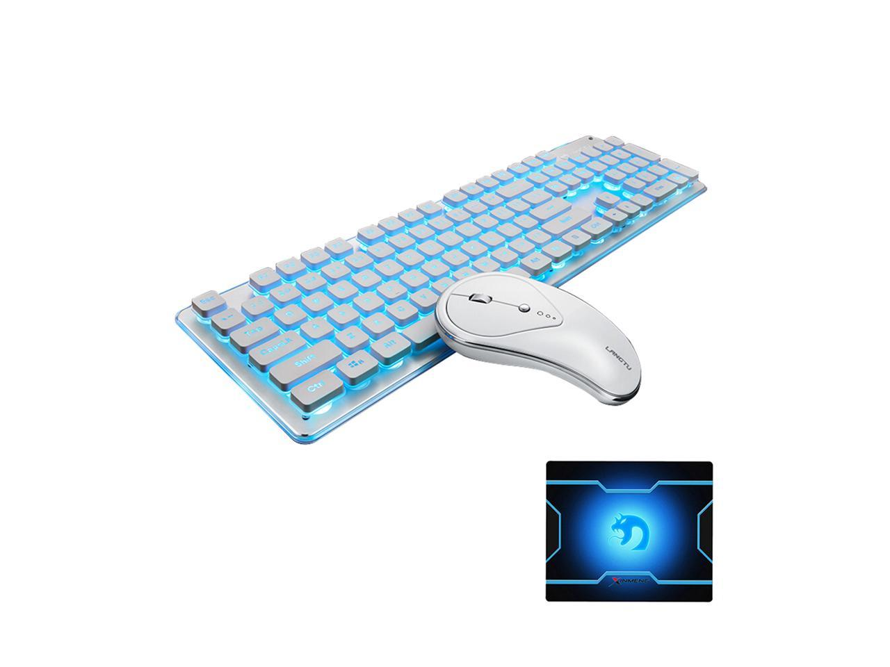 Desktop Color : Green Laptop Ultra Slim Full Size Ergonomic PC Notebook Wireless Keyboard /& MouseSet Combo for Computer