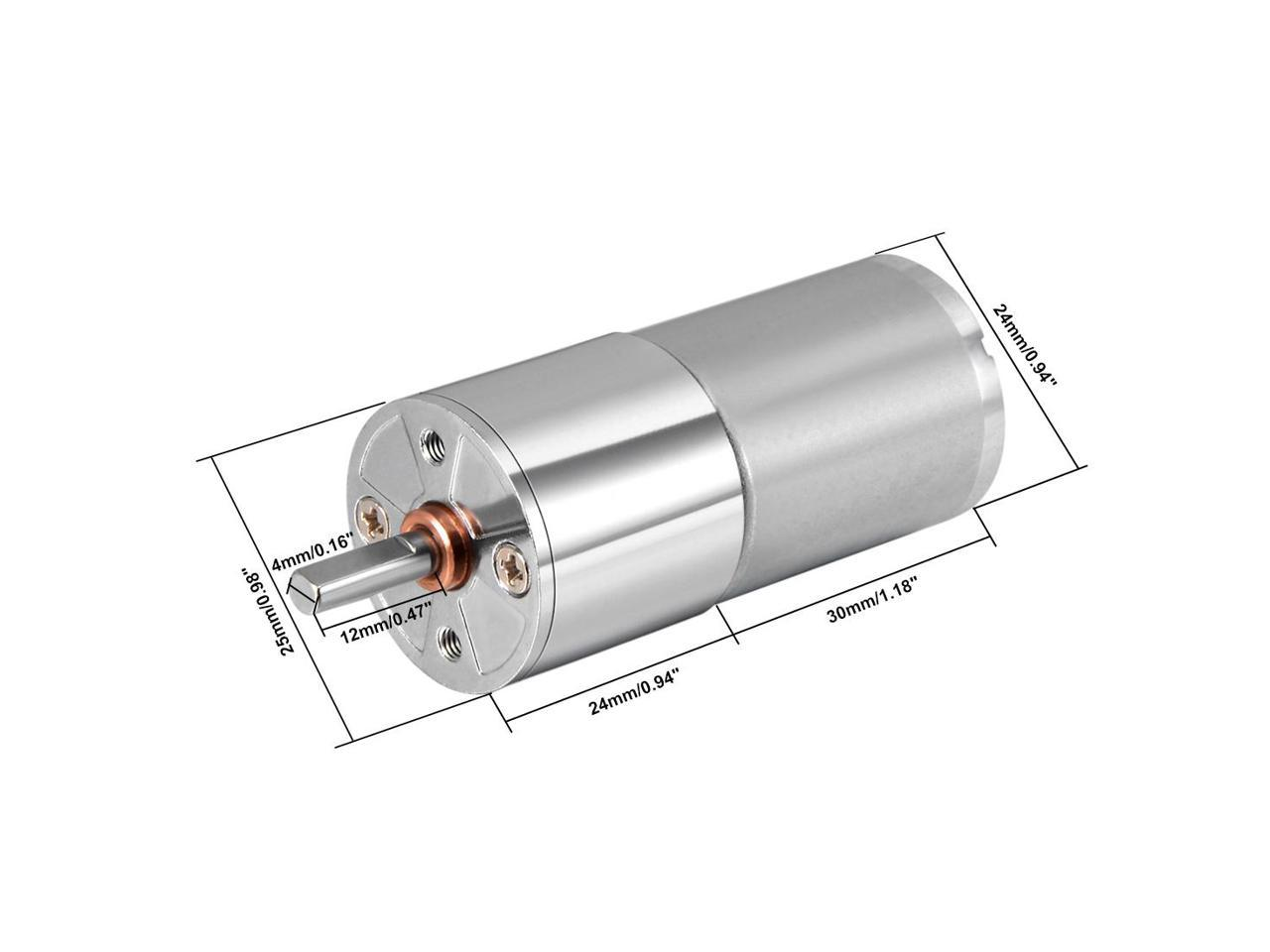 Super Powerful 30RPM GEARED REDUCTION MOTOR NEW Free Ship 3 TO 12VDC