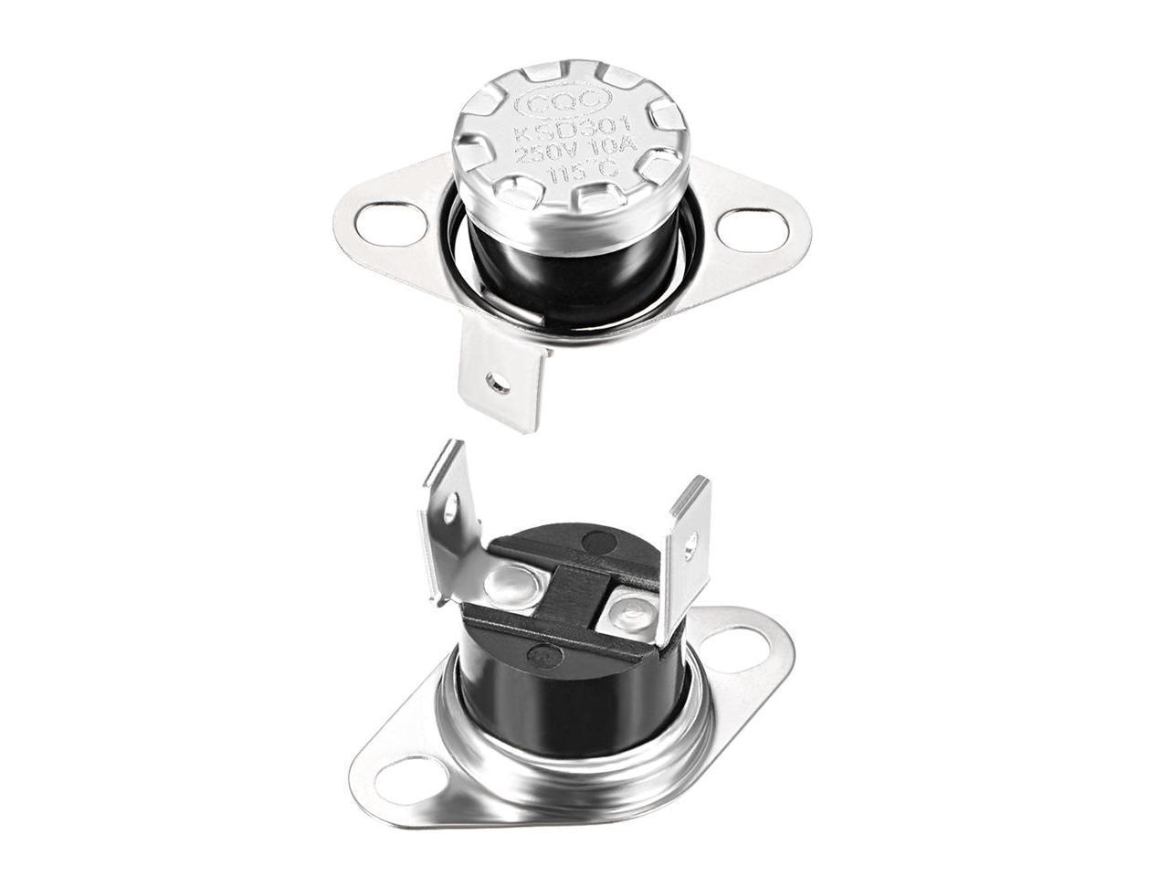 2 x Temperature Switch Control Sensor Thermal Thermostat 85°C N.O KSD301
