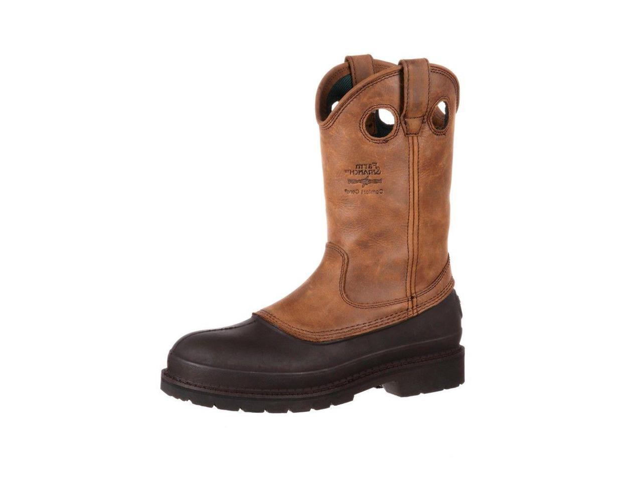 "Georgia Boot Work Mens 12"" Muddog Pull On Comfort G5514 10.5 W Brown G5514 Comfort 59457e"
