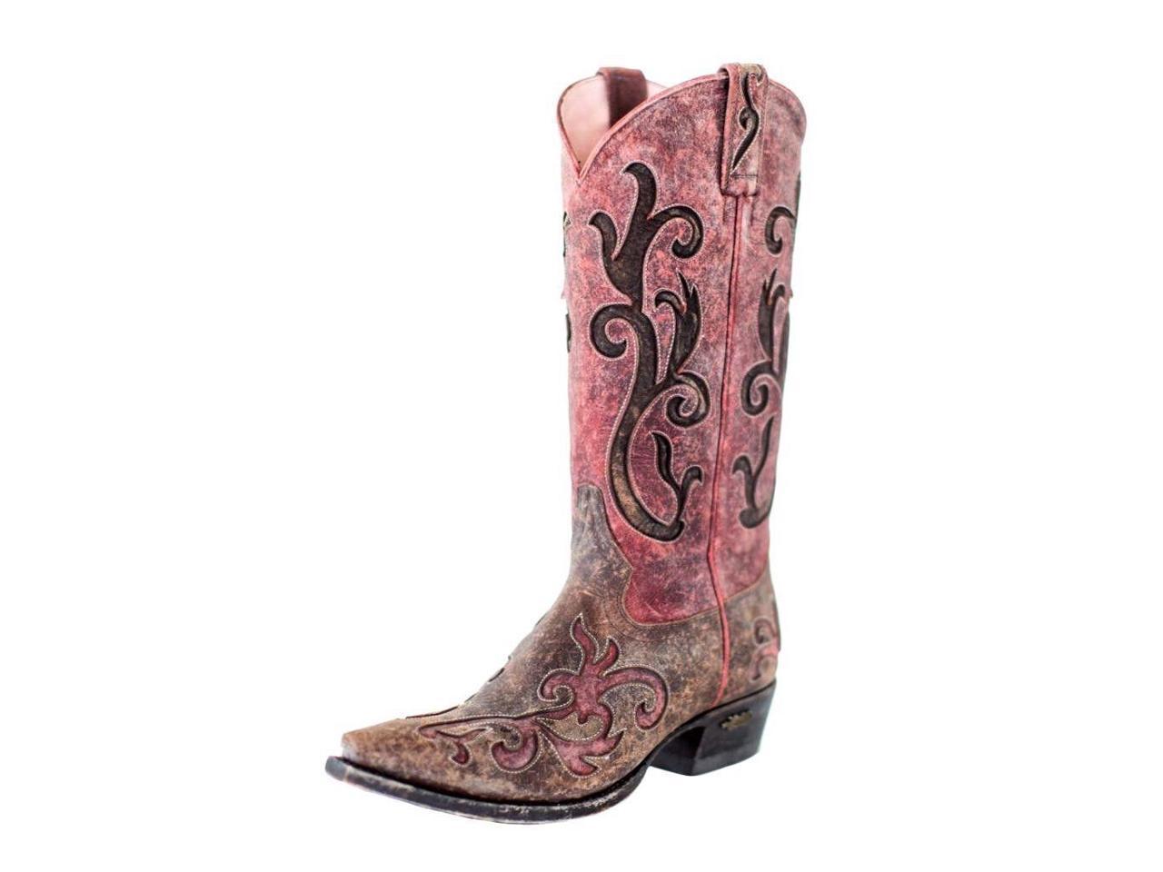 Miss Womens Macie Western Boots Womens Miss Lynita Distressed 7.5 M Brown U6002-02 8d7561