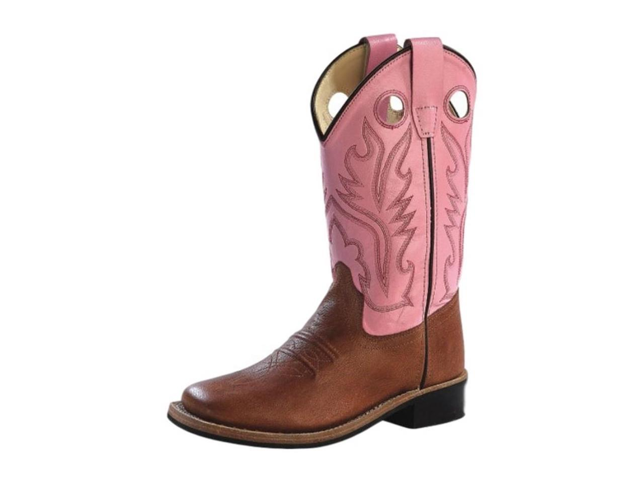 Old West Cowboy Cowboy Cowboy Boots Girls Rubber 2.5 Child Tan Canyon Pink BSC1839 2e2f59