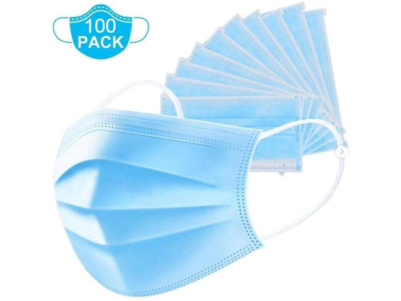 50Pcs//Box Kids Disposable Face Cover 3 Ply Non-Woven,Disposable Mouth Cover Face Shield Face Bandanas Childrens Covering