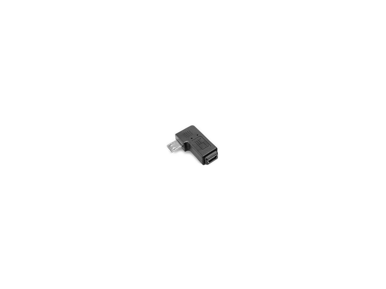 Micro USB 9mm Long Connector 90 Degree Left /& Right Angled Micro USB 2.0 5Pin Male to Mini USB Female Extension Adapter Lysee Data Cables Color: Right