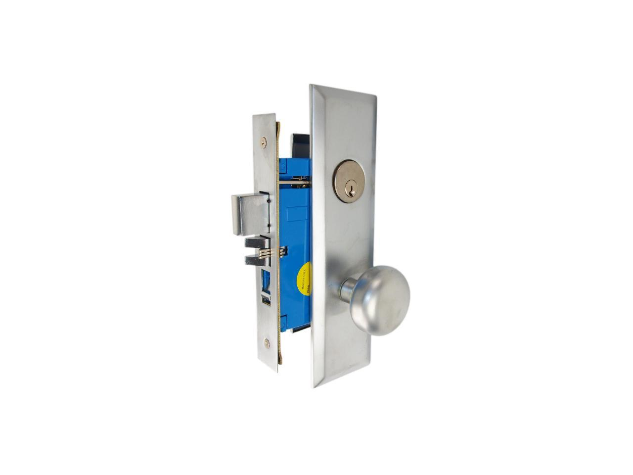 Picture of: Maxtech Marks New Yorker 7ny10a 26d Like 1033bf26dr Satin Chrome Right Hand Heavy Duty Mortise Entry Lockset Screwless Knobs Thru Bolted 2 3 4 Lock Set Newegg Com
