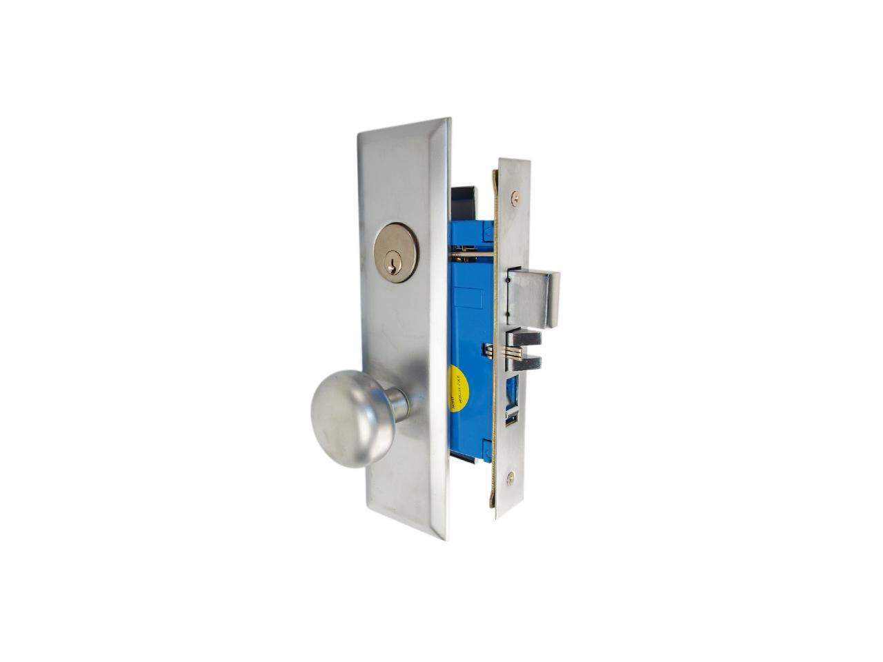 Picture of: Maxtech Marks New Yorker 7ny10a 26d Like 1033bf26dl Satin Chrome Left Hand Heavy Duty Mortise Entry Lockset Screwless Knobs Thru Bolted 2 3 4 Lock Set Newegg Com