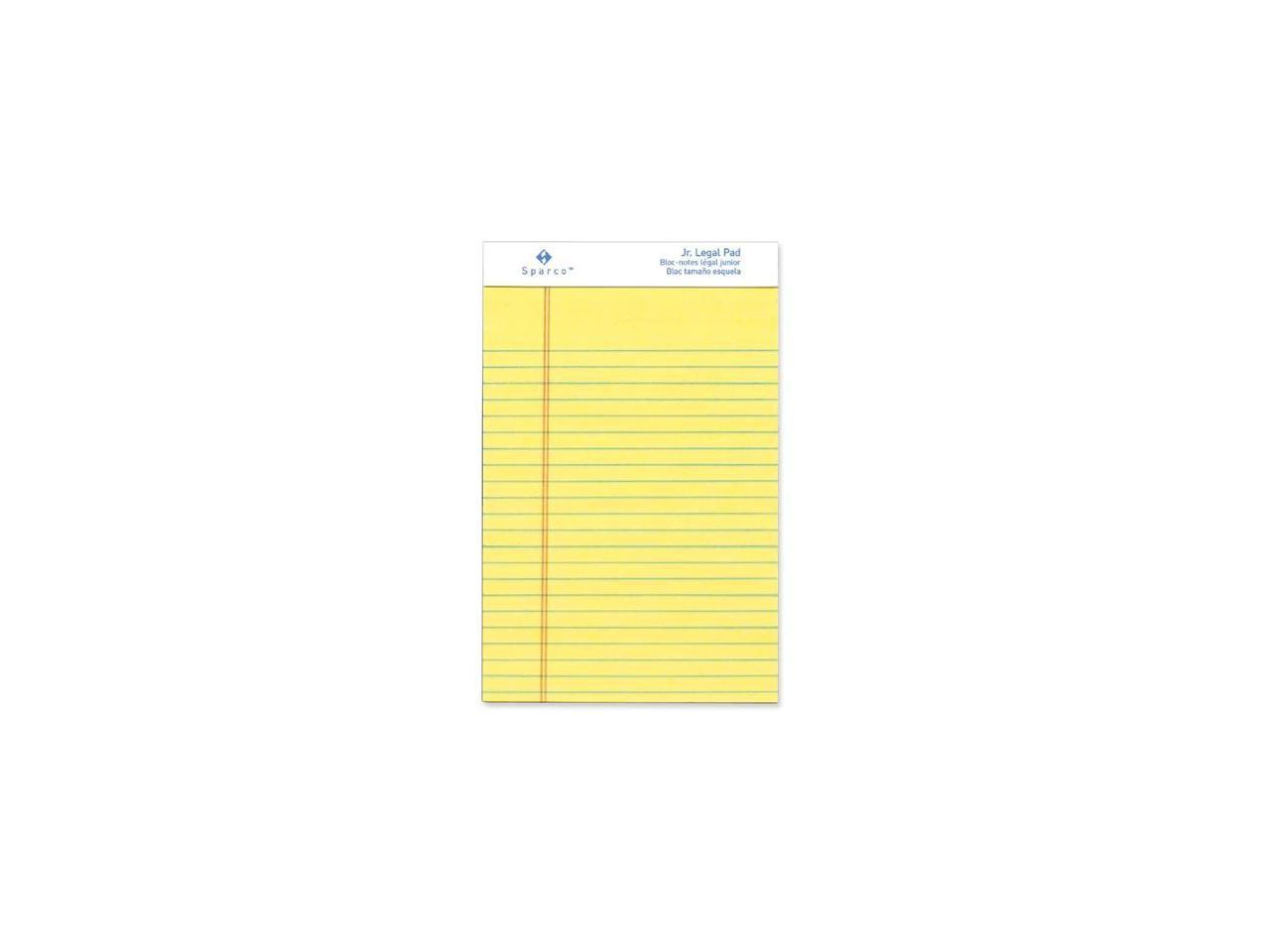 12//DZ 5 x 8 Inches 50 Sheets Sparco Pad,Micro-Perforated,Jr SPRW2058 White Legal Ruled