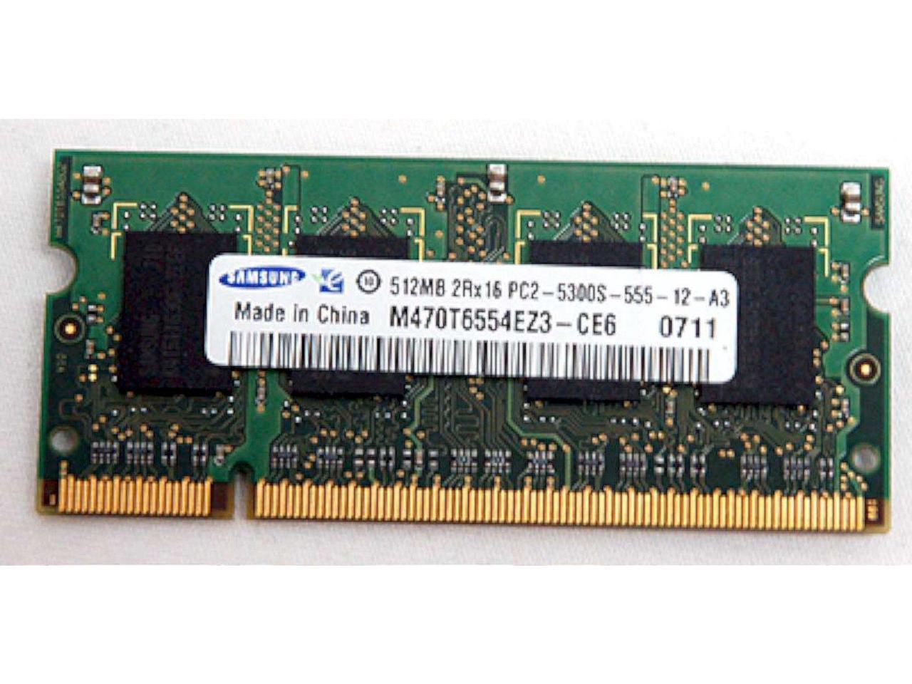New Samsung Laptop Ddr2 Ram 512mb Pc2 5300s 555 12 A3 Dv6000 V6000 Dv9000 F500 Newegg Com