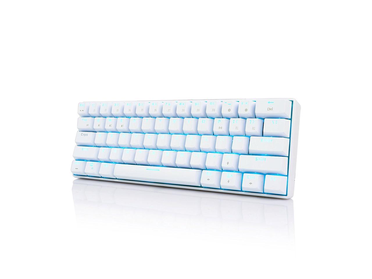 Royal Kludge Rk61 Cherry Mechanical Bluetooth 3 0 Wired Wireless 61 Keys Multi Device Led Backlit Gaming Office Keyboard For Ios Android Windows And Mac With Rechargeable Battery Brown Switch White Newegg Com