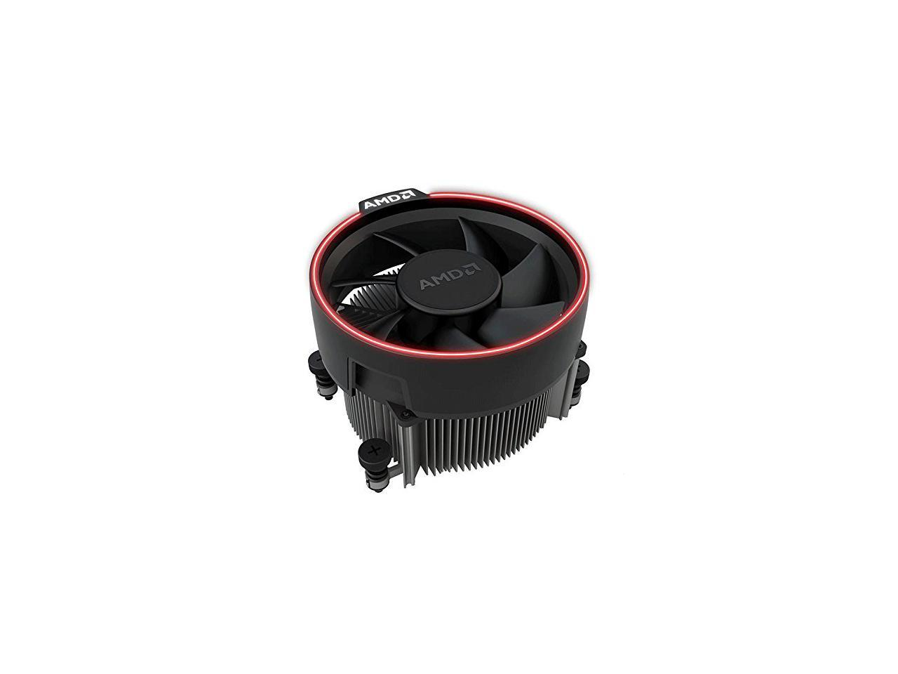AMD Wraith Spire Socket AM4 4-Pin Connector CPU Cooler With Copper Core Base /& Aluminum Heatsink /& 3.81-Inch Fan