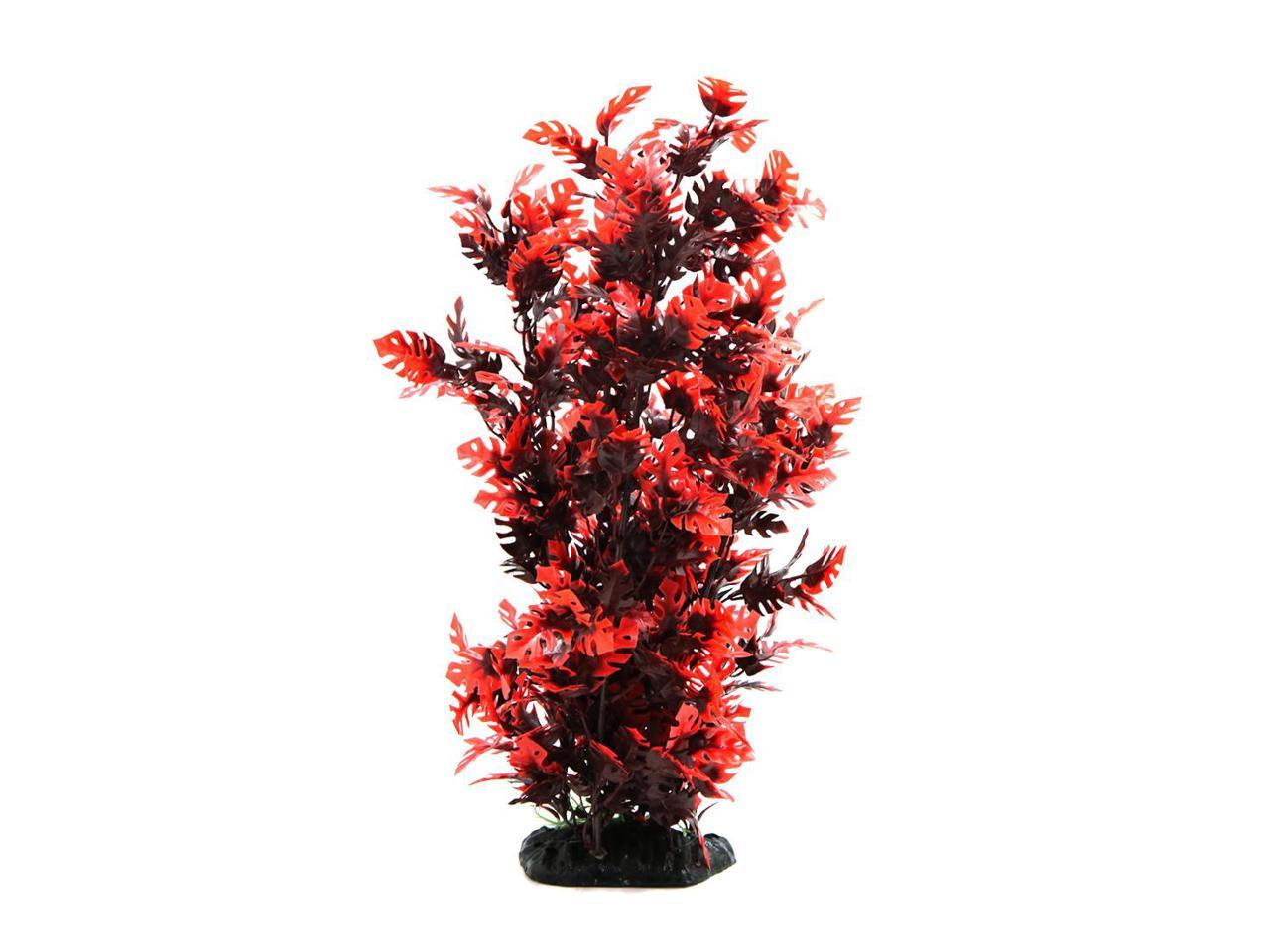15 3 Inch Red Plastic Decorative Plant Aquarium Terrarium Decor Reptiles Habitat Ornament Home Decoration Newegg Com