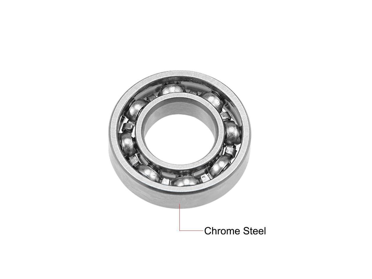 "R188 Deep Groove Ball Bearing 1//4/""x1//2/""x1//8/"" Open Type Chrome Bearings 2pcs"