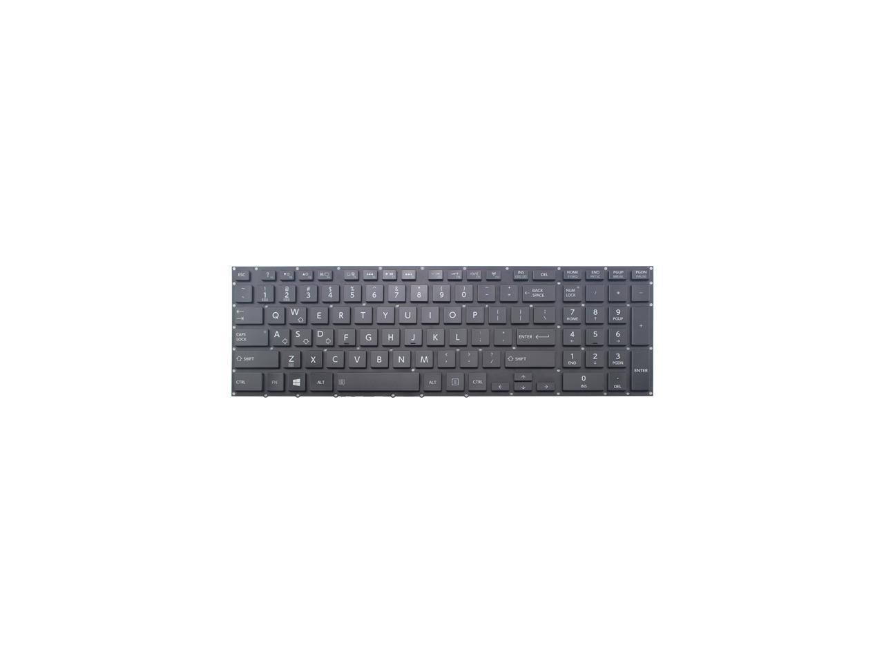 US layout black color CHNASAWE Laptop Replacement backlit keyboard without frame for Toshiba Qosmio X70-A X75-A x75-a7295 x75-a7180 x75-a7170 x75-a7298 A000240170