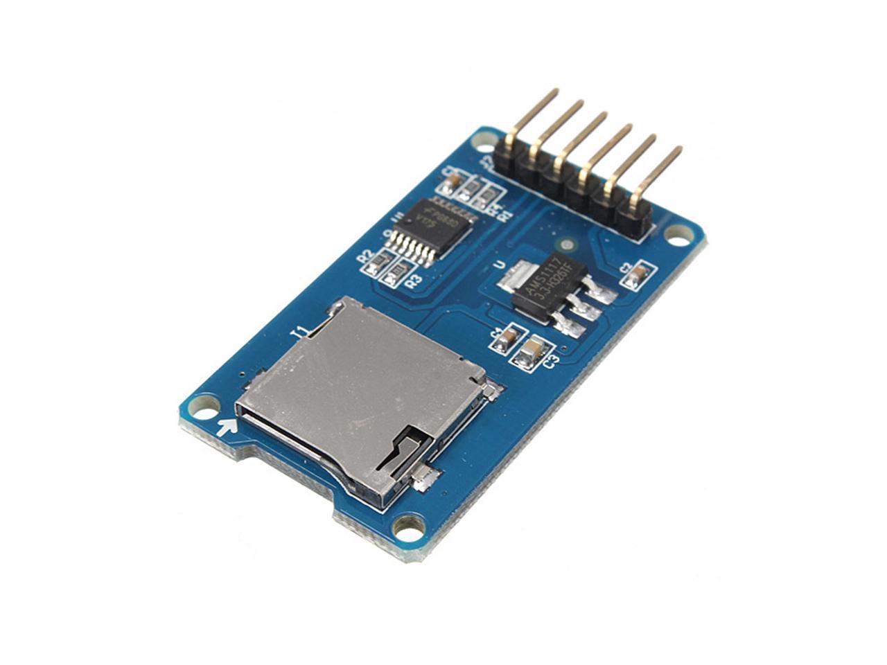 2PCS Micro SD TF Card Storage Memory Module SPI Level conversion For Arduino DIY