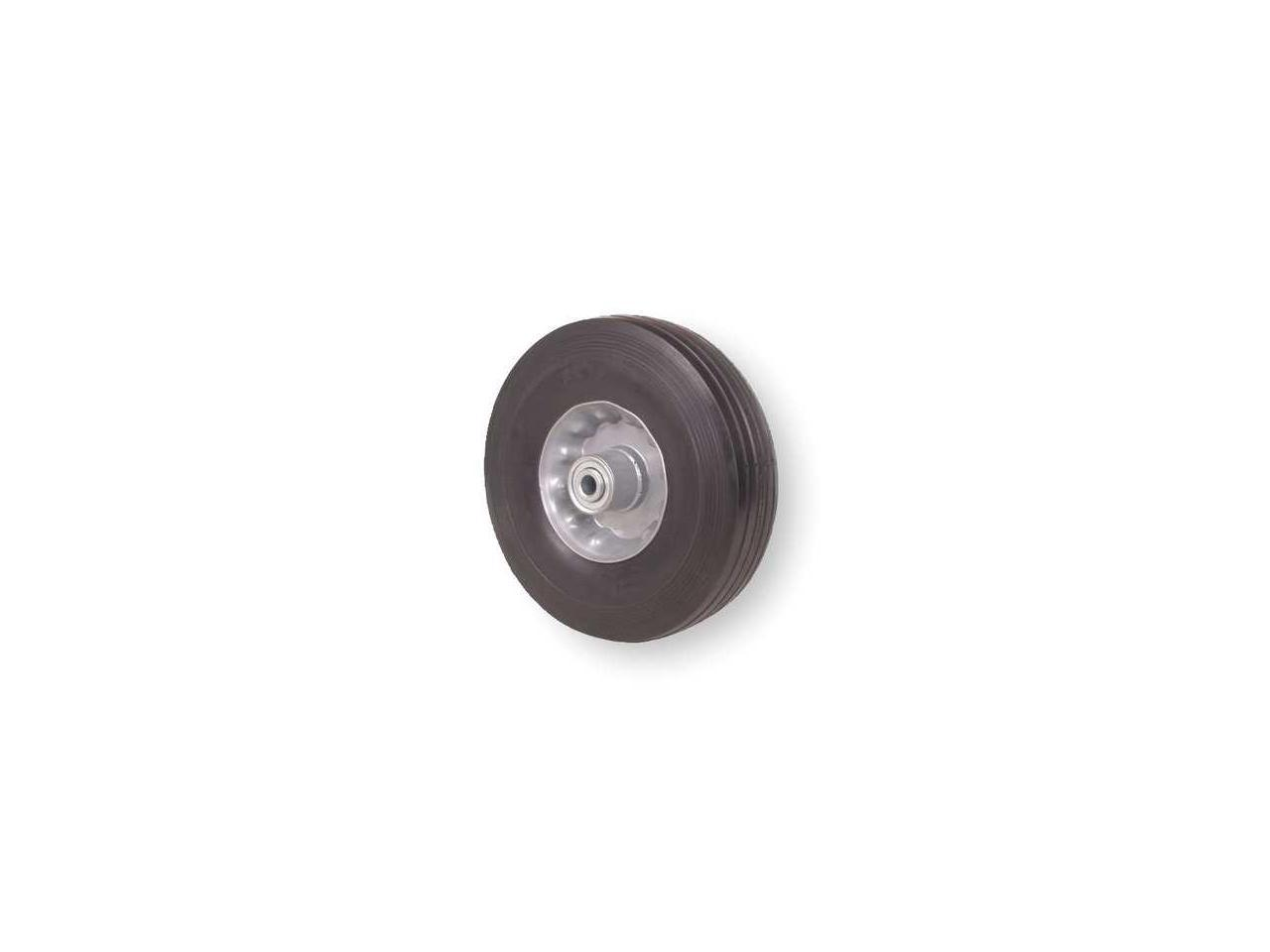Zoro Select 1Nxb5 Solid Rubber Wheel,6 In.,200 Lb.,Offset