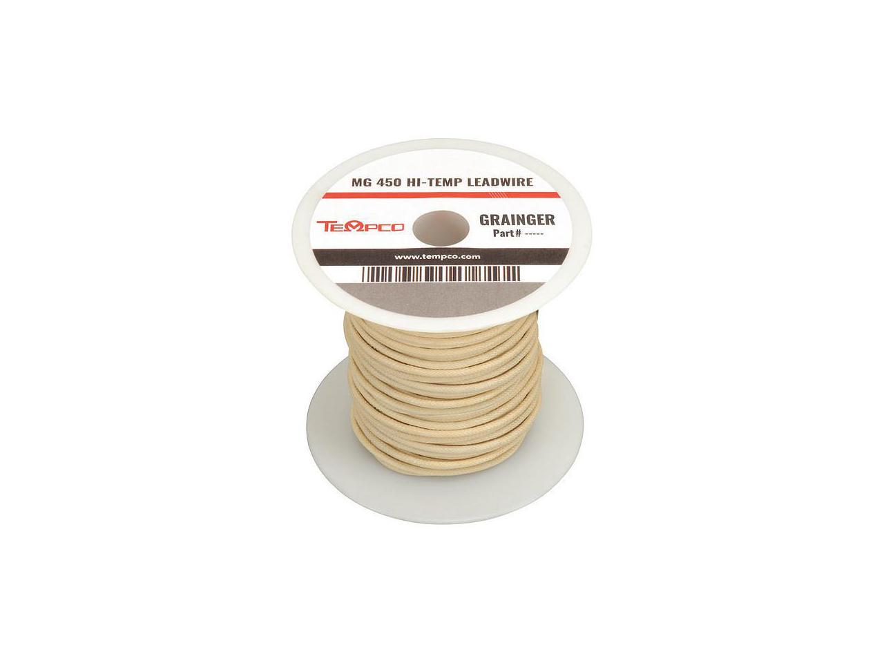LDWR-1014 TEMPCO High Temp Lead Wire,12AWG,100ft,Natural