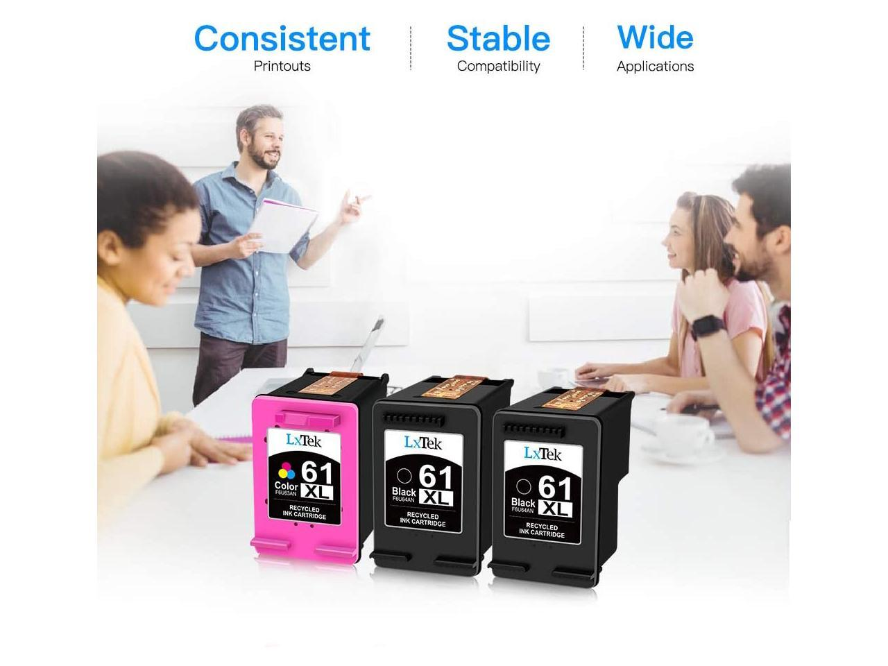 LxTek Ink Cartridge Replacement for HP 61XL 61 XL to use ...