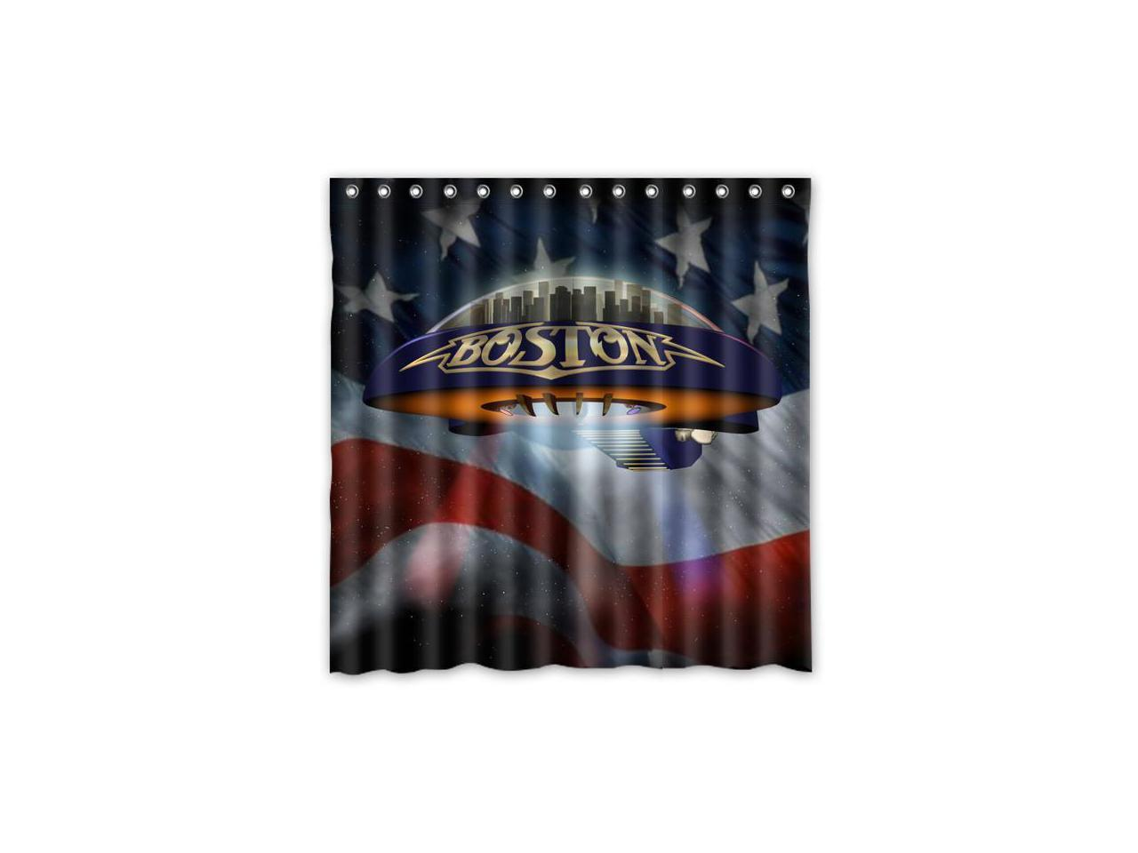 Picture of: Boston Rock Band Design Polyester Fabric Bath Shower Curtain 180×180 Cm Waterproof And Mildewproof Shower Curtains Newegg Com