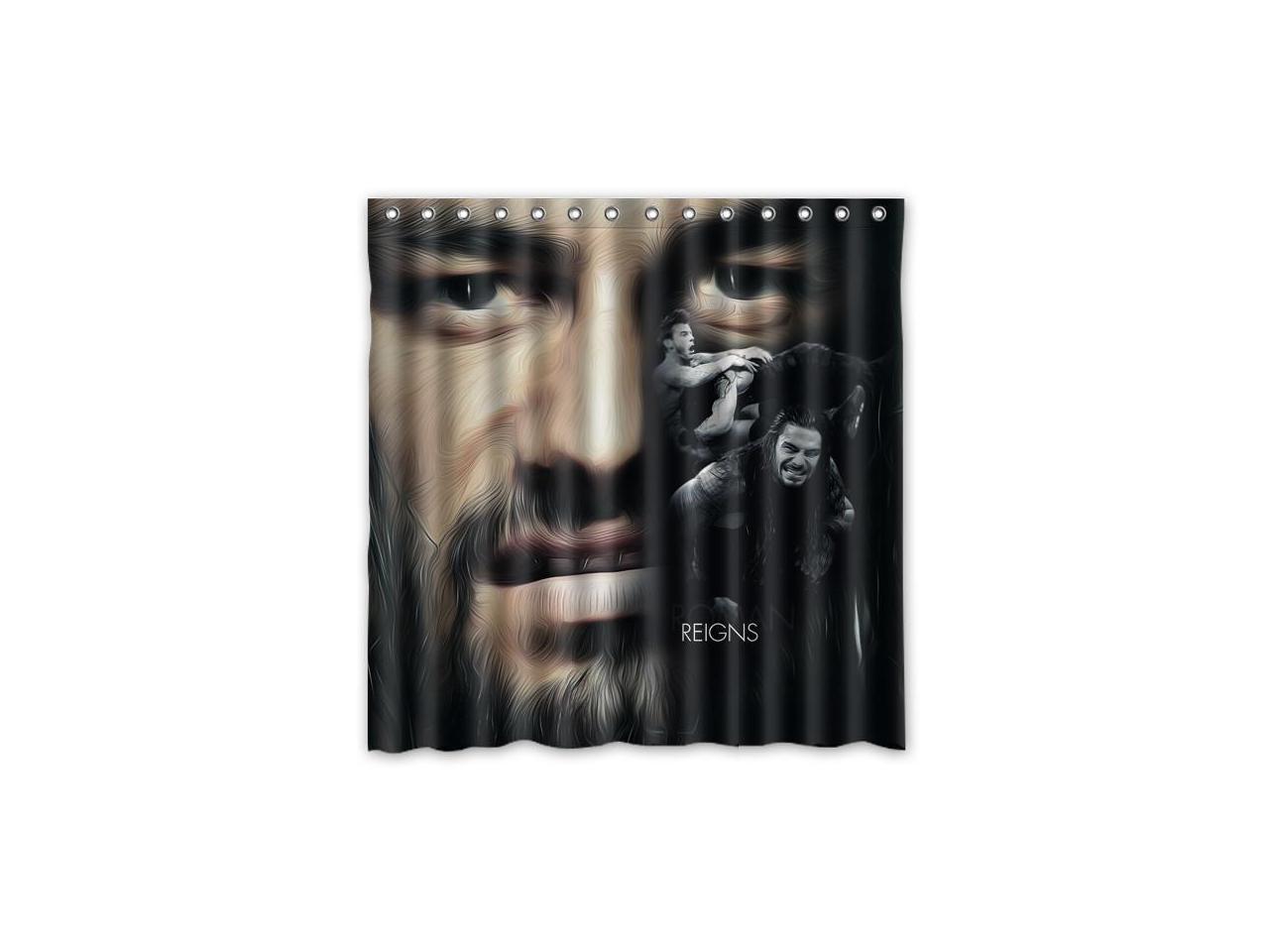 Roman Reigns Design Polyester Fabric Bath Shower Curtain 180x180 Cm Waterproof And Mildewproof Shower Curtains Newegg Com