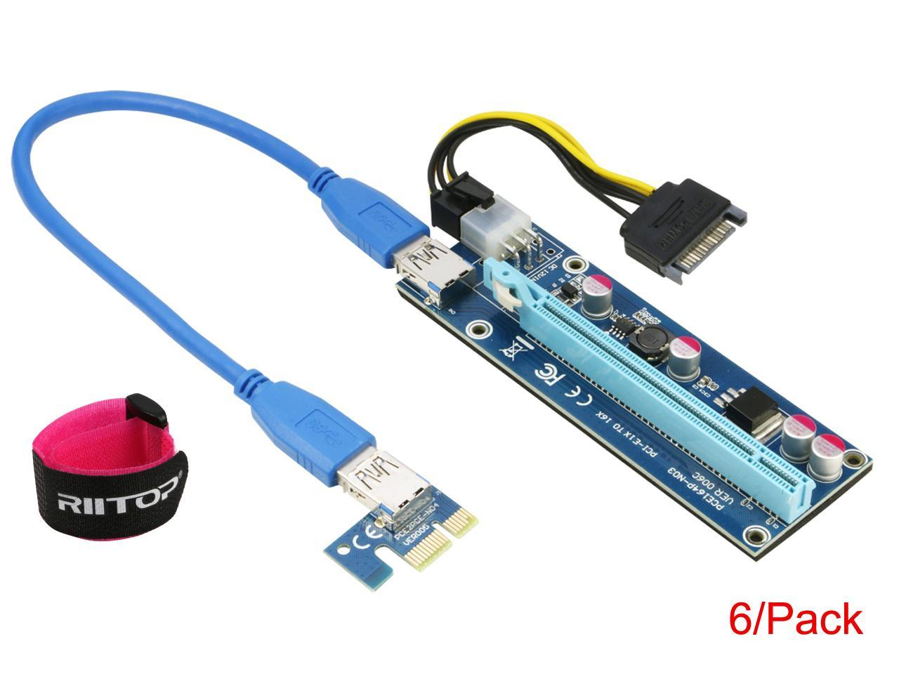Mini PCI-E to PCI-E Express 1X Extension Cord Adapter Card with USB Riser Card Extender Cable Test Tool