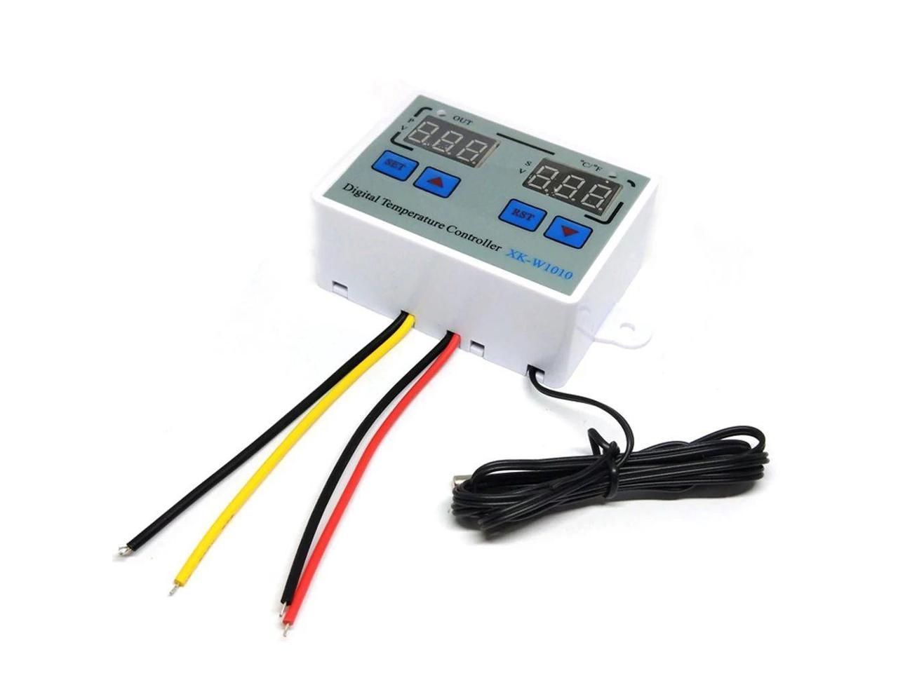 Facibom 10A AC110-220V Digital LED Temperature Controller XH-W3001 for Incubator Cooling Heating Switch Thermostat NTC Sensor