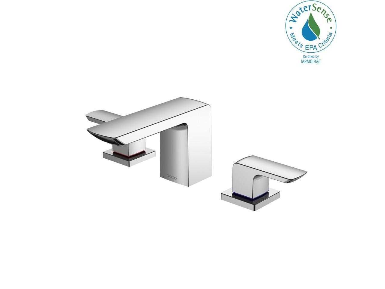 Toto Gr 1 2 Gpm Two Handle Widespread Bathroom Sink Faucet Polished Chrome Tlg02201u Cp Newegg Com