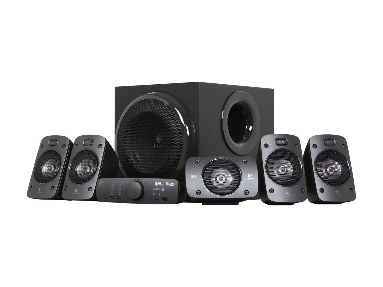 Logitech Z906 5.1 Surround Sound Speaker System - THX, Dolby Digital and  DTS Digital Certified - Newegg.com