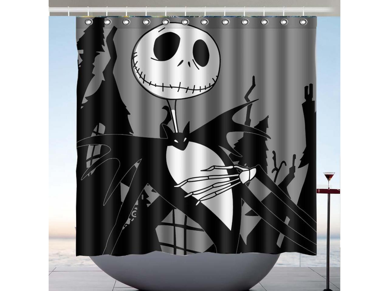 Picture of: The Nightmare Before Christmas Design Polyester Fabric Bath Shower Curtain 180×180 Cm Newegg Com