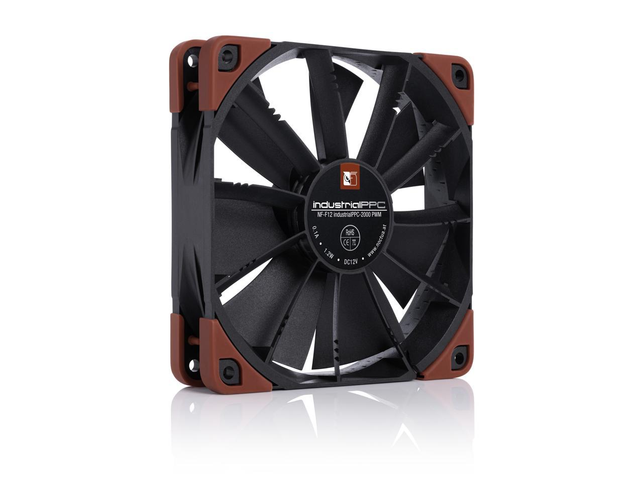 Heavy Duty Cooling Fan with 2000RPM 4-Pin 120mm, Black Noctua NF-F12 iPPC 2000 PWM