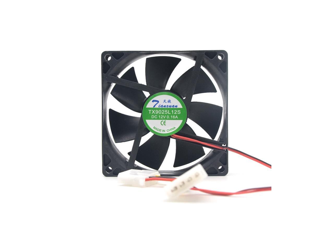 FOR TX9025L12S DC 12V 0.16A 90*90*25MM 9CM 2Pin Fan