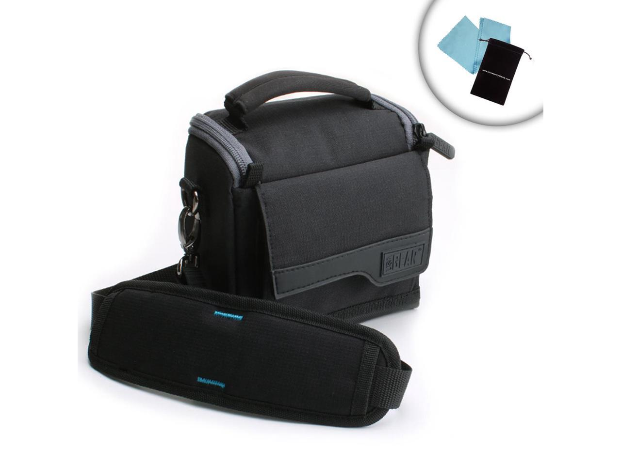Canon Vixia and More Shoulder Strap and Ripstop Nylon Compatible with HF R800 USA Gear Camcorder Case with Protective Customizable Dividers Accessory Pockets