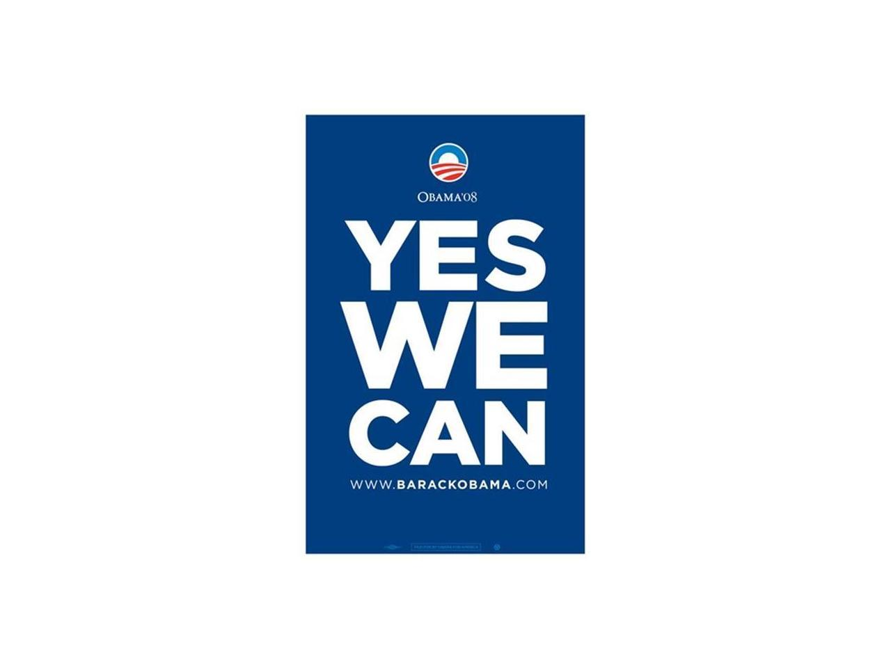 Pop Culture Graphics Mov421688 Barack Obama Yes We Can Blue Campaign Poster Movie Poster 11 X 17 Newegg Com