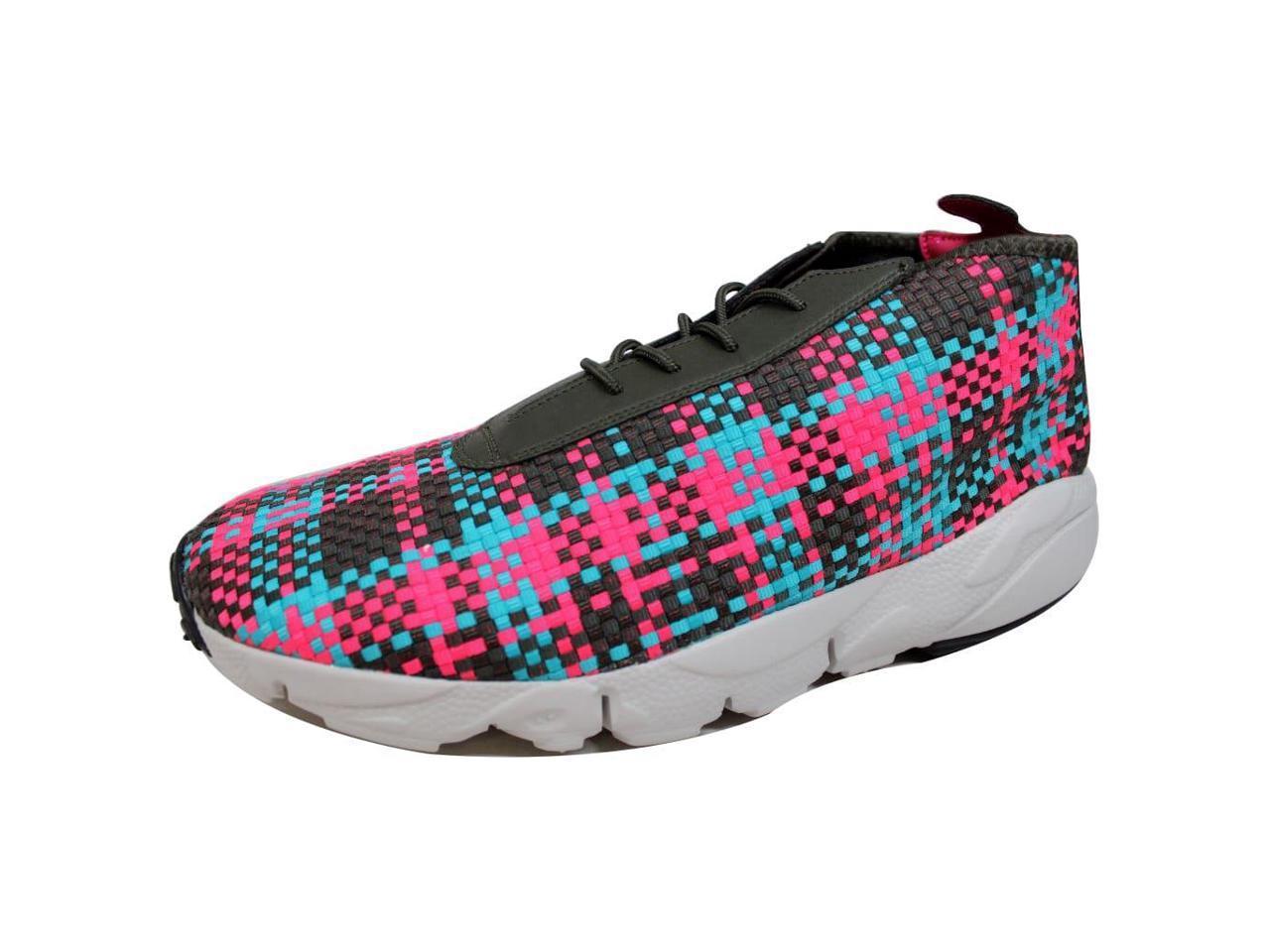 Nike Men's Air Footscape Desert Pink Chukka Cargo Khaki/Hyper Jade-Hyper Pink Desert 652822-300 Size 8.5 9e9b00