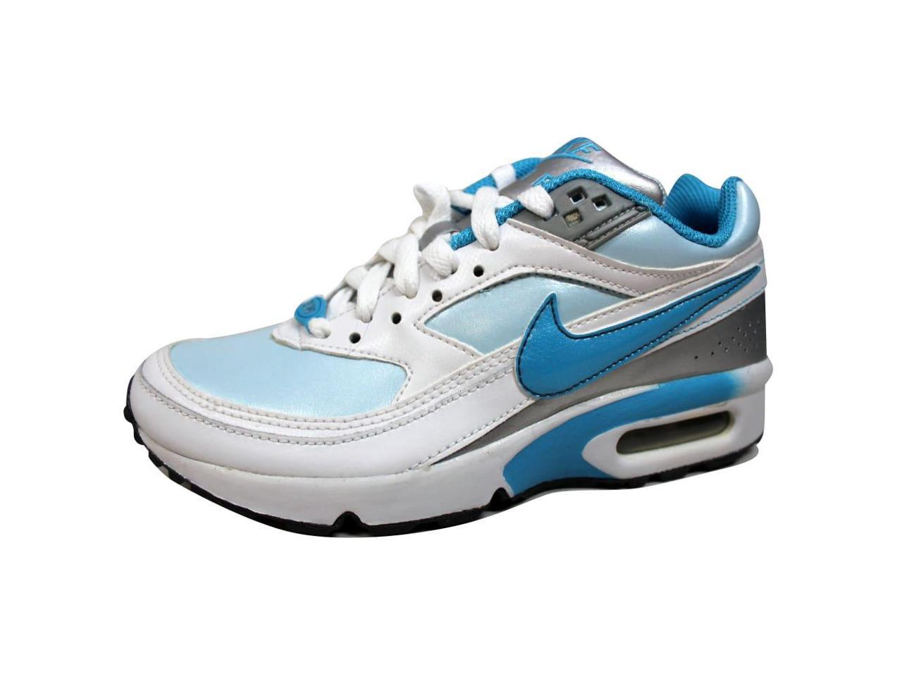 Nike Grade-School Air Silver Classic BW Pale Blue/Cyan-White-Metallic Silver Air 309341-441 Size 3.5Y e94b97