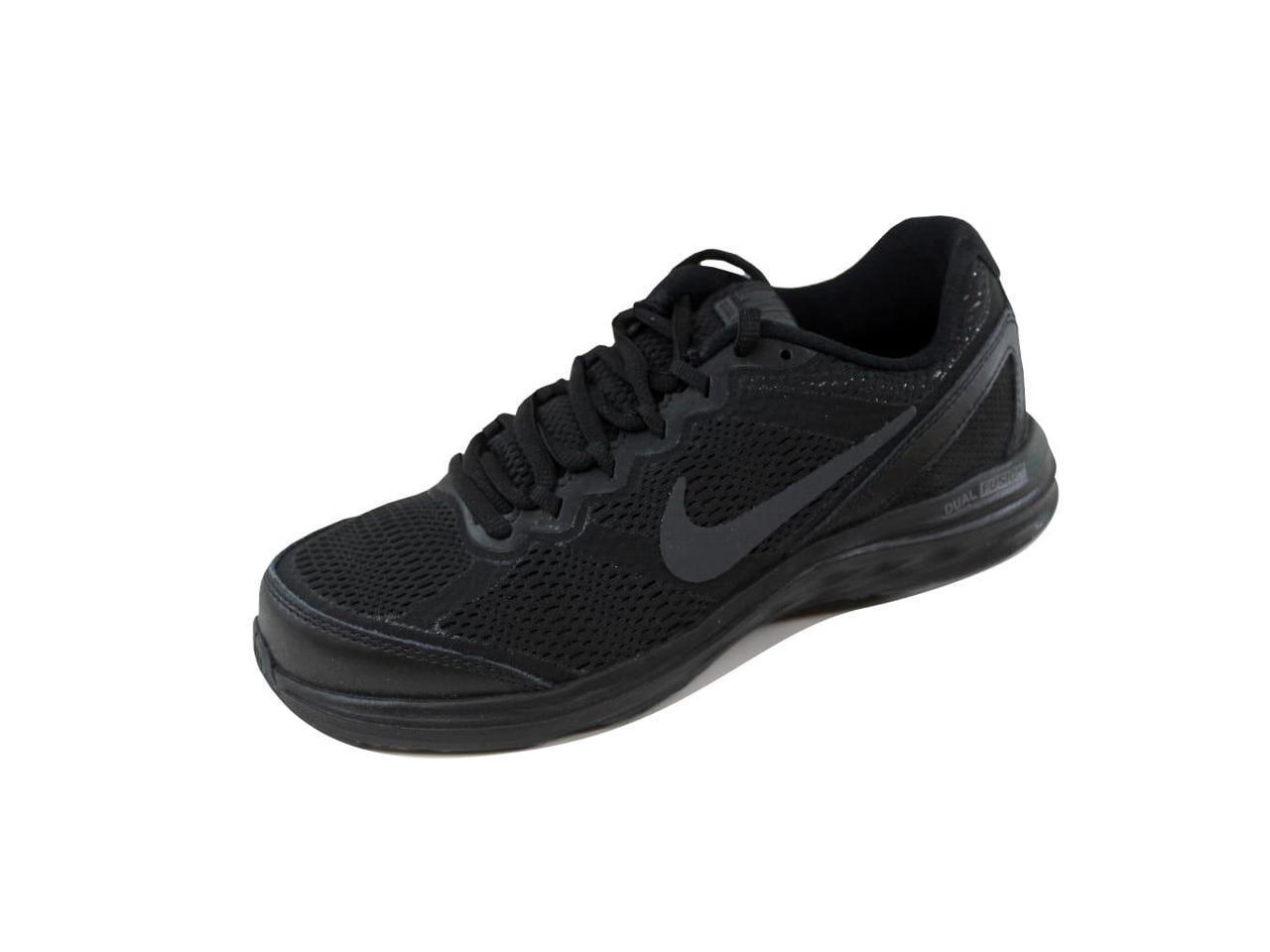Nike Women's Dual Fusion Run 6 3 Black/Black-Anthracite 653594-020 Size 6 Run b876de