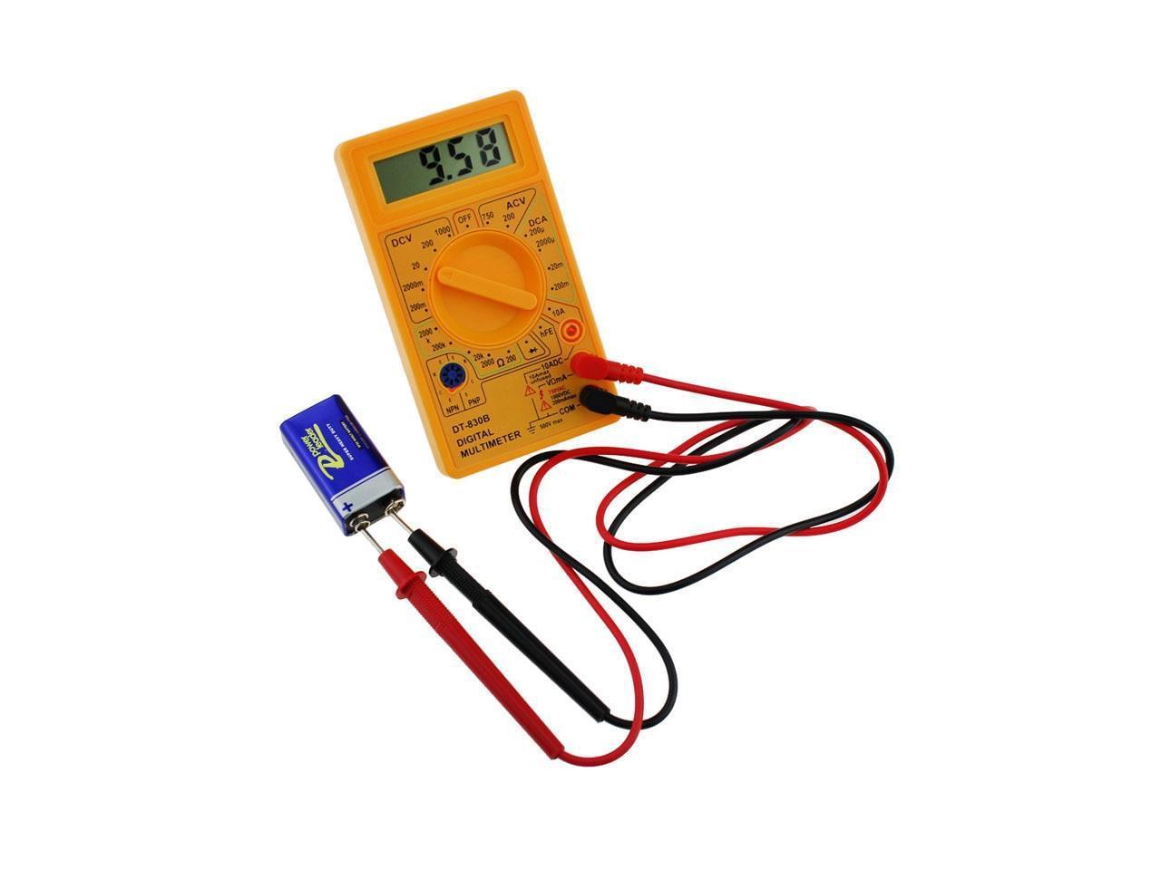 DT-830B LCD Digital Multimeter AC DC 750//1000V Voltmeter Amperemeter Ohmmet